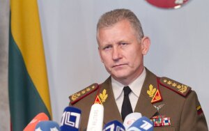 Picture: Lithuania's military commander Arvydas Pocius: The army must do its missions with whatever money it is given