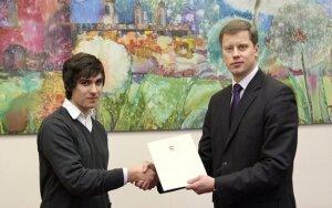 Jaunąjį čempioną apdovanojo Kauno meras