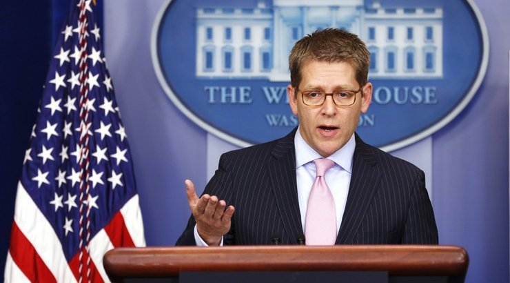 JAV prezidentros atstovas spaudai Jay Carney 